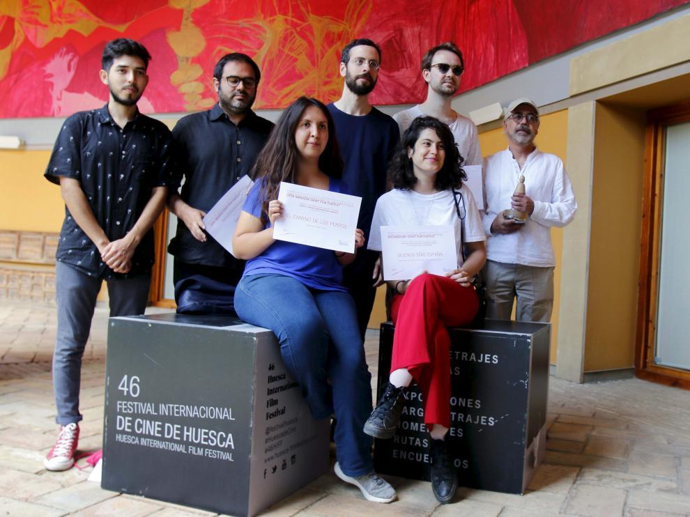 Foto de los premiados en la última edición del Festival de Cine de Huesca.
