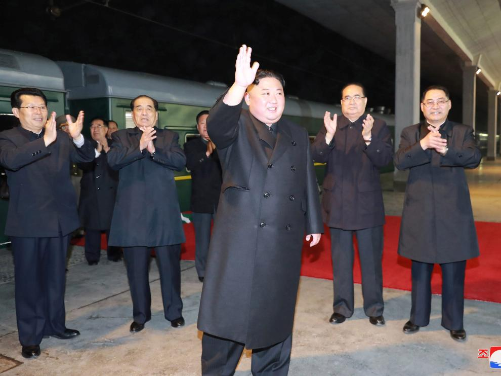 North Korean leader Kim Jong Un departs to visit Russia at undisclosed location in this undated photo released on April 23, 2019 by North Korea's Central News Agency (KCNA). KCNA via REUTERS    ATTENTION EDITORS - THIS IMAGE WAS PROVIDED BY A THIRD PARTY. REUTERS IS UNABLE TO INDEPENDENTLY VERIFY THIS IMAGE. NO THIRD PARTY SALES. SOUTH KOREA OUT. NO COMMERCIAL OR EDITORIAL SALES IN SOUTH KOREA. [[[REUTERS VOCENTO]]] NORTHKOREA-POLITICS/