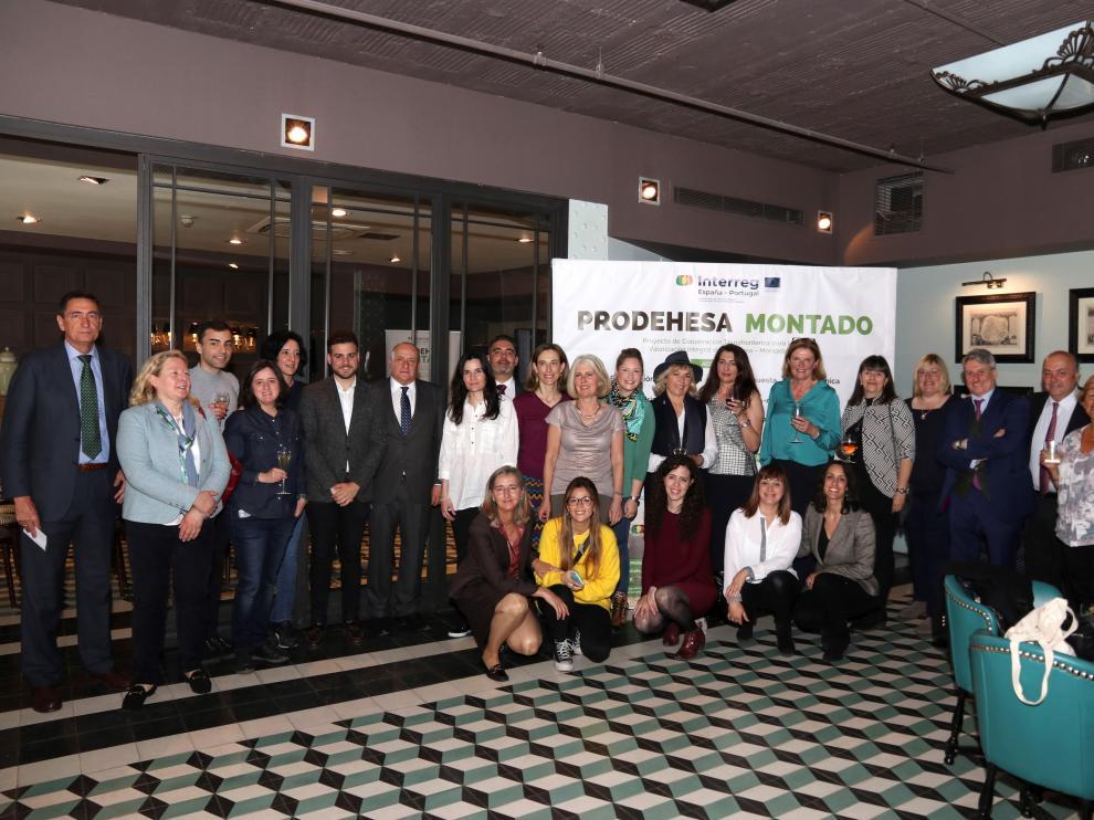 Fotografía facilitada por Extremadura Avante del evento gastronómico organizado este miércoles en el marco de la cooperación transfronteriza 'Dehesa Montado'.