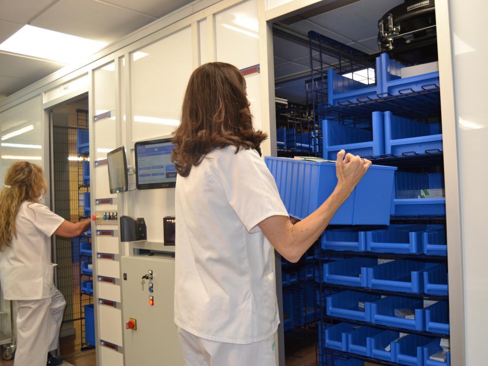 El Clínico ha automatizado el almacén de fármacos.