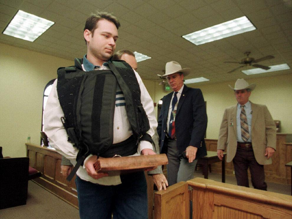 John William King, en el tribunal de Jasper, Texas, en una imagen de 1999.