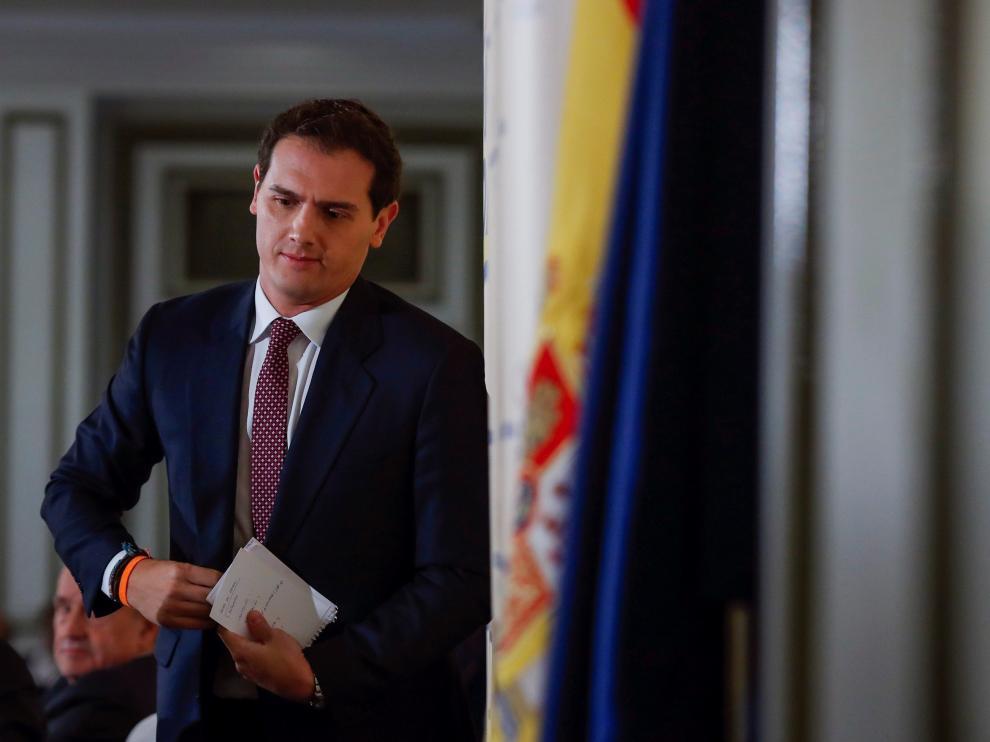 El líder de Ciudadanos y candidato a la Presidencia del Gobierno, Albert Rivera.