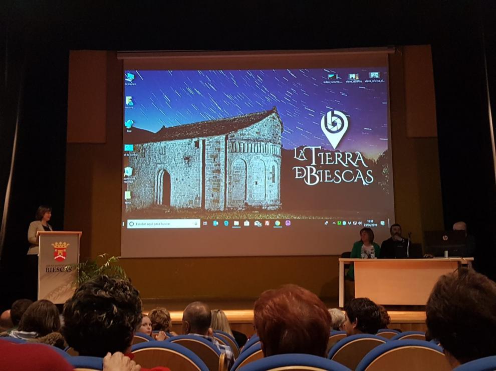 Presentación de la nueva web turística de Biescas.