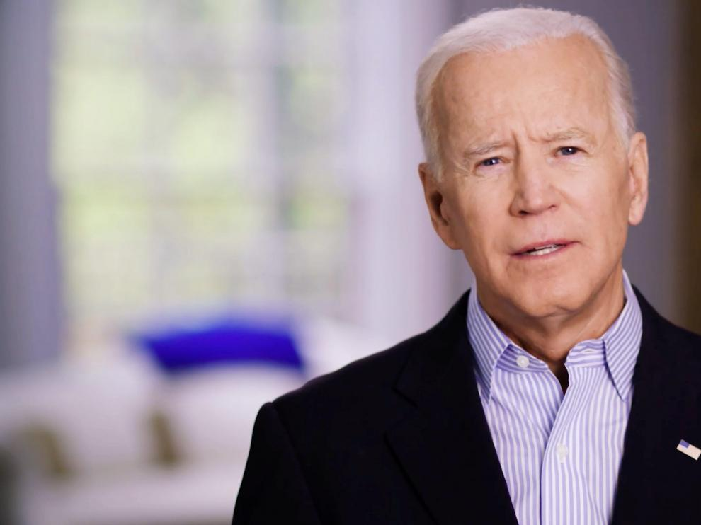 Former U.S. Vice President Joe Biden announces his candidacy for the Democratic presidential nomination in this still image taken from a video released April 25, 2019. BIDEN CAMPAIGN HANDOUT via REUTERS   ATTENTION EDITORS - THIS IMAGE HAS BEEN SUPPLIED BY A THIRD PARTY. NO RESALES. NO ARCHIVES [[[REUTERS VOCENTO]]] USA-ELECTION/BIDEN