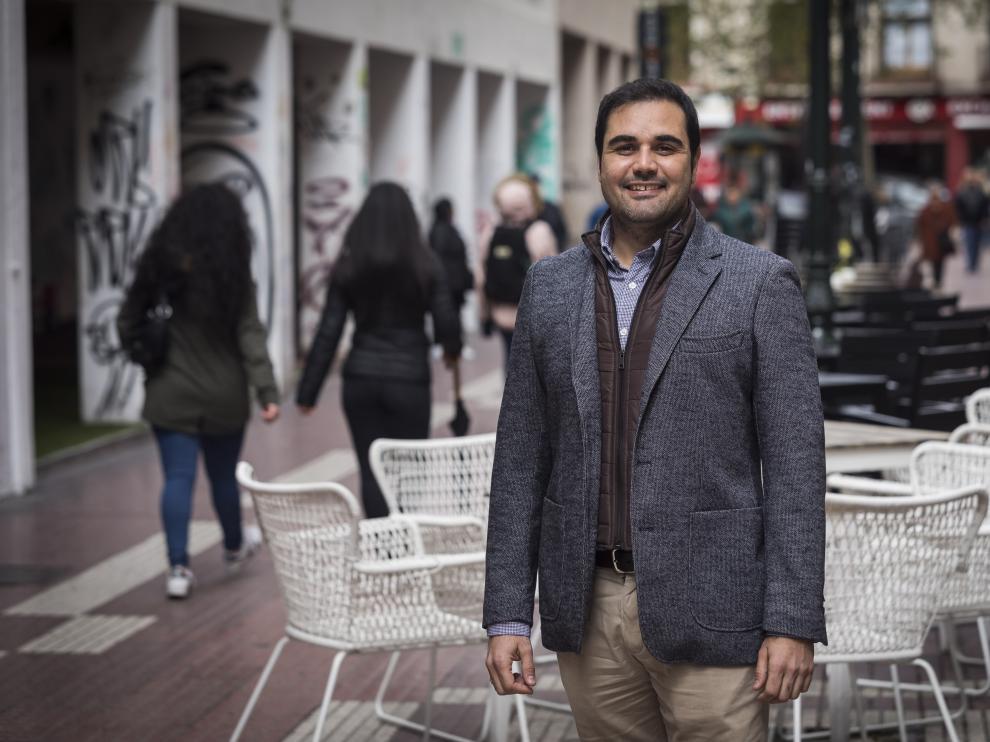 El candidato de Cs por Zaragoza, Rodrigo Gómez