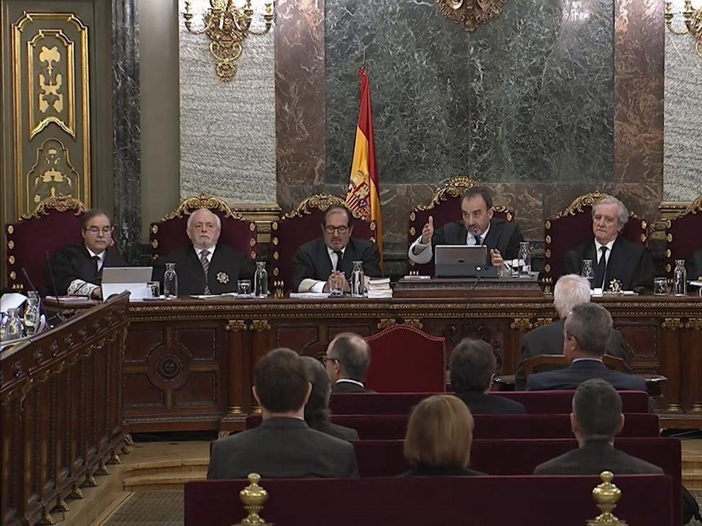Sesión de este jueves del juicio del 'procés'.