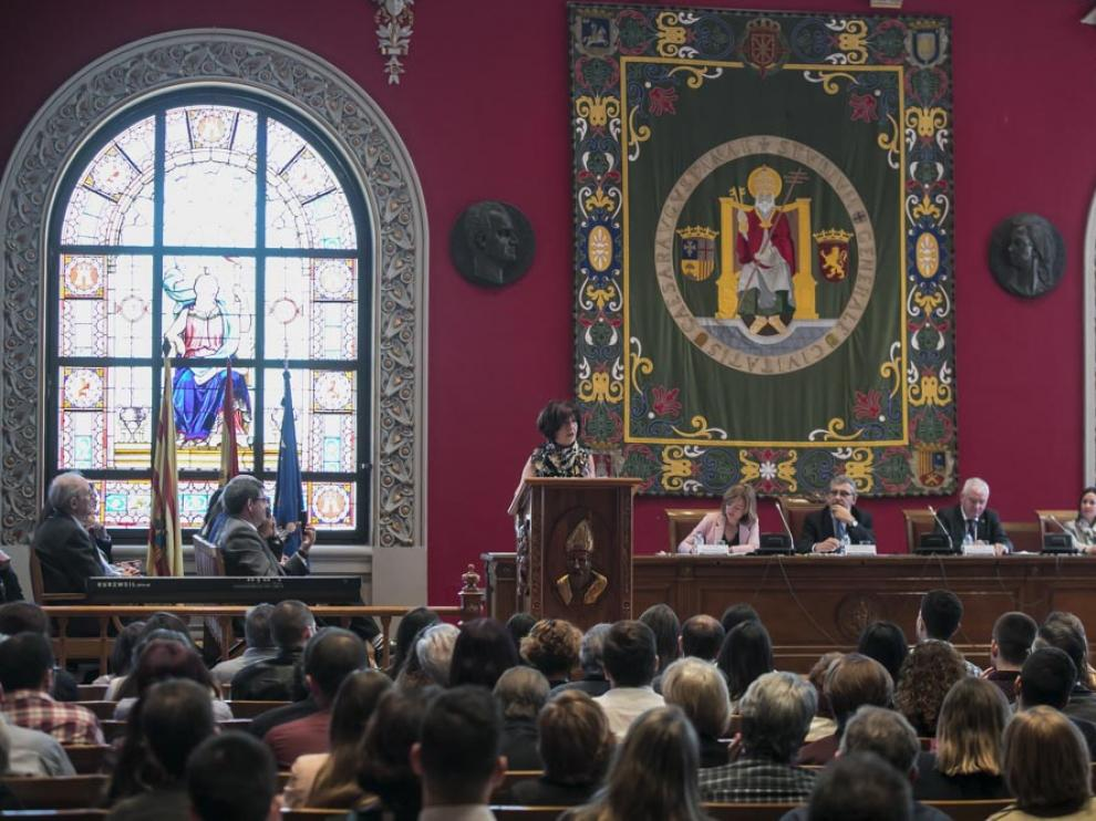 Acto institucional del patrón de Filosofía y Letras de la Universidad de Zaragoza