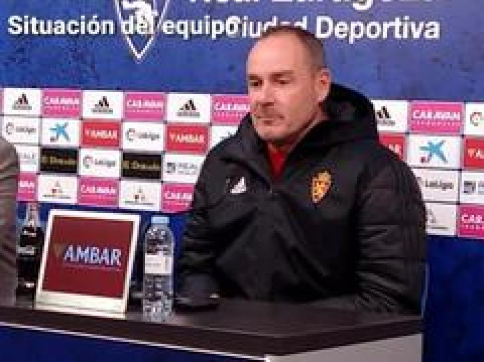 El entrenador del Real Zaragoza, Víctor Fernández, ha analizado la situación de sus jugadores antes del partido contra el Córdoba, este domingo.