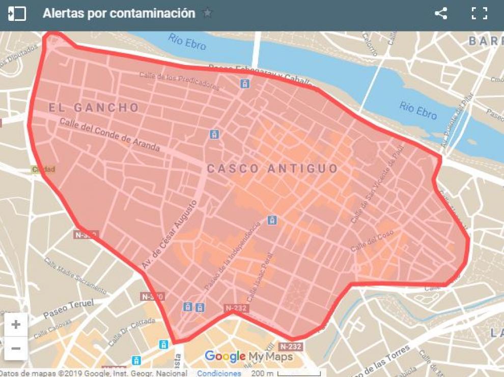 Zaragoza restringirá el tráfico durante episodios de alta contaminación