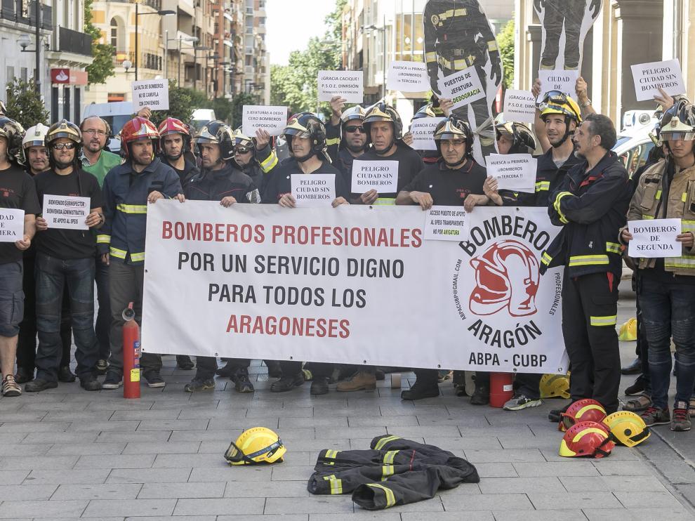 La ABPA ya ha organizado varias protestas contra la DPH por la gestión del nuevo servicio provincial de bomberos.