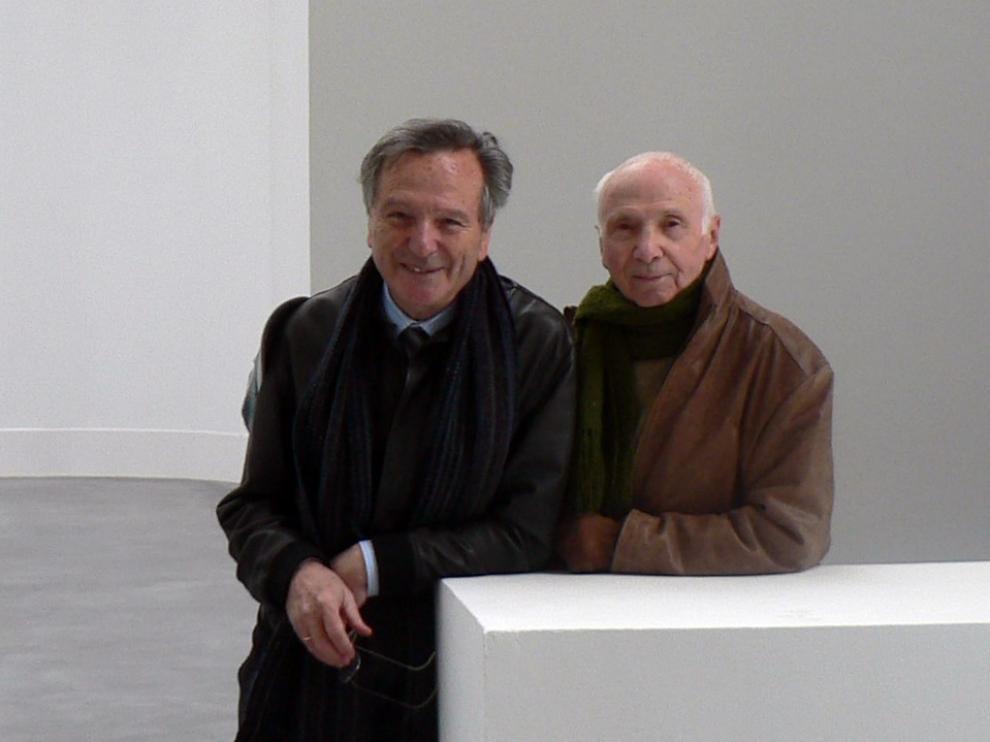 Moneo y Beulas, en el Centro de Arte y Naturaleza.