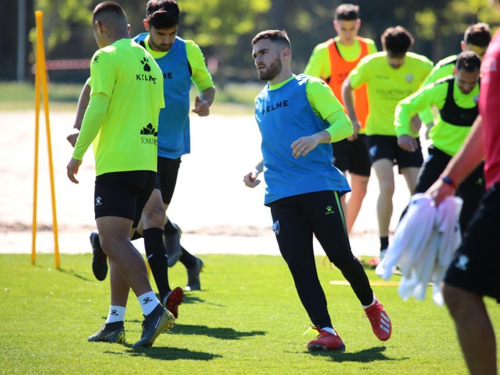 Javi Galán ha entrenado este sábado con normalidad tras ausentarse en las dos sesiones anteriores.