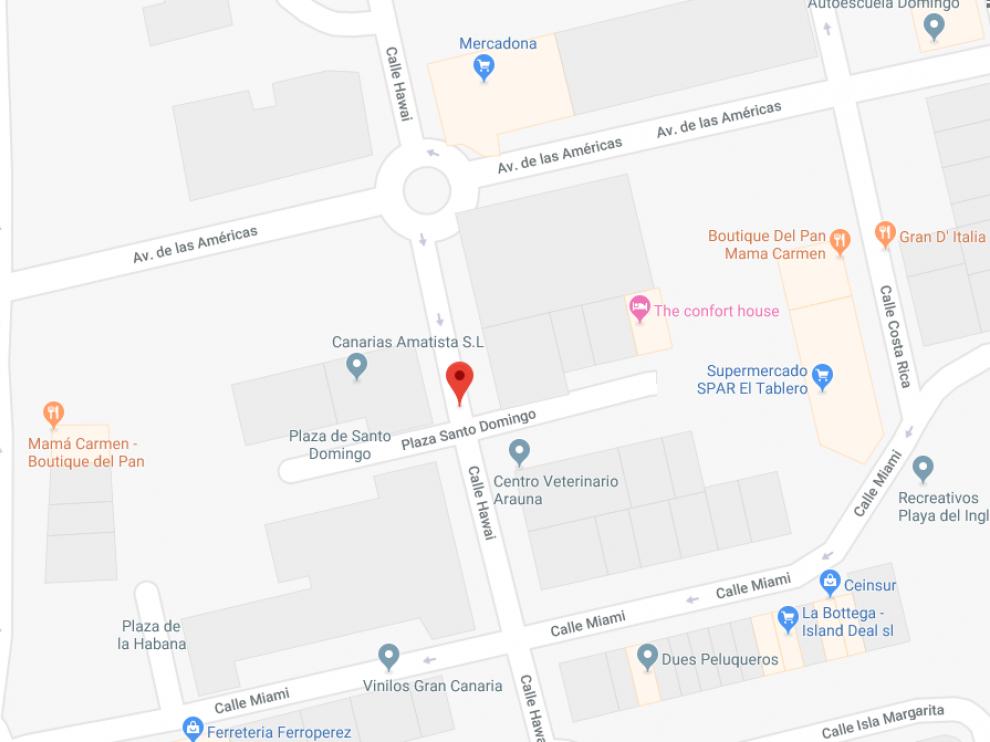 La agresión tuvo lugar en la calle Hawai, en el barrio de El Tablero de San Bartolomé de Tirajana.