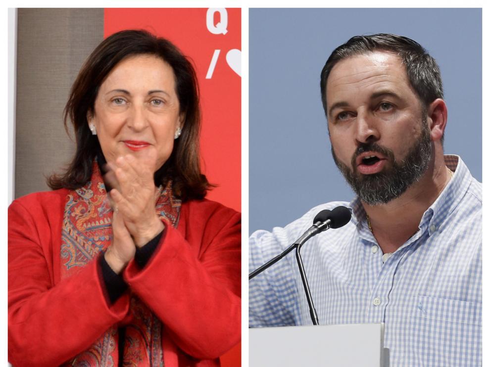 Margarita Robles y Santiago Abascal votarán este domingo en el mismo colegio electoral.