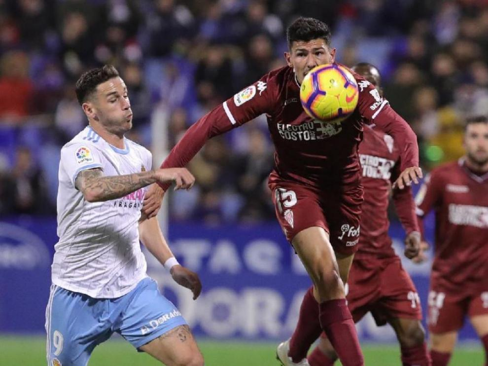 Imagen del partido entre Zaragoza y Córdoba de la primera vuelta.