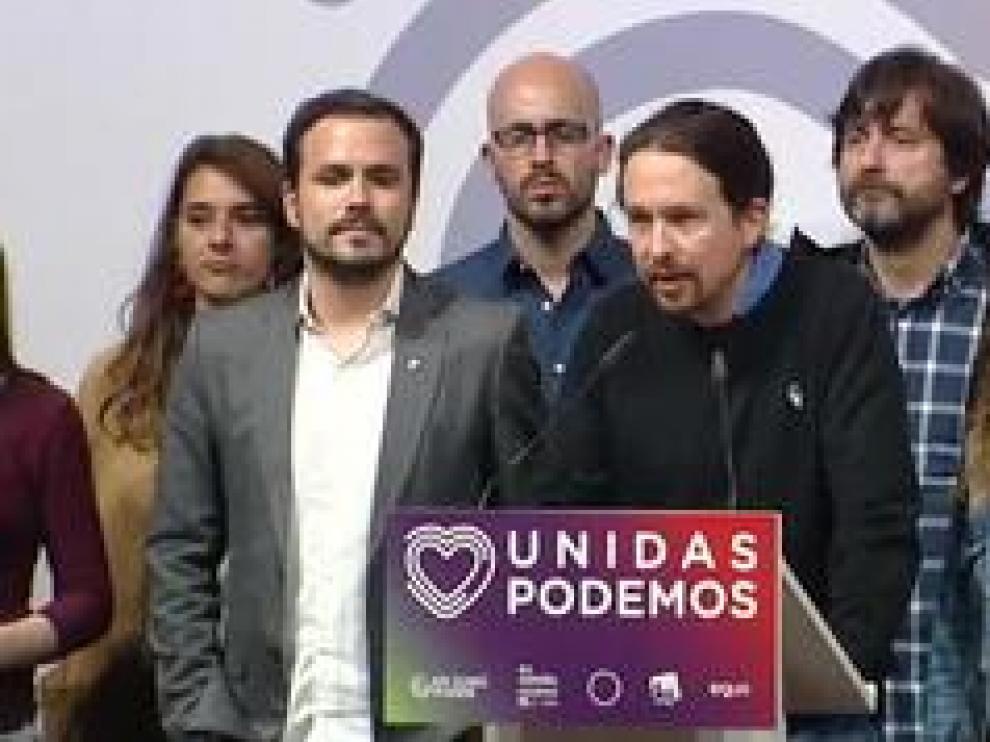 """El líder de Unidas Podemos celebra los resultados y dice que son """"imprescindibles"""""""