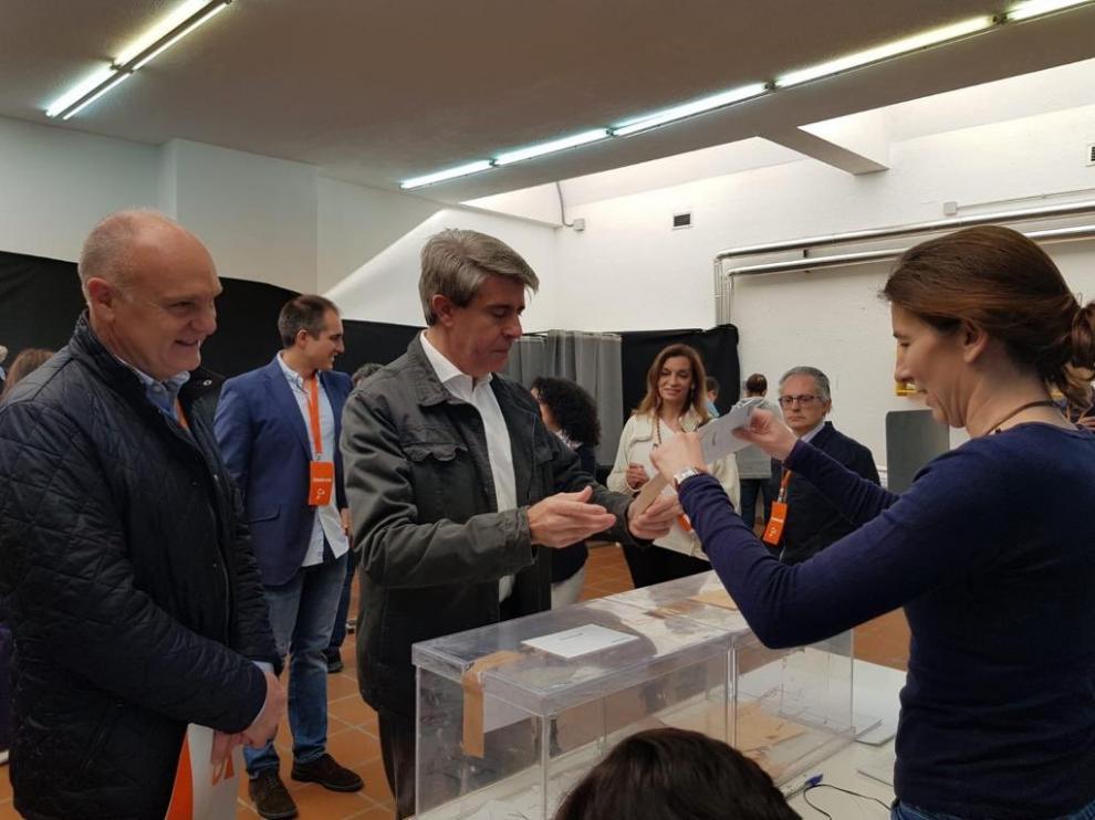 Ángel Garrido ha votado por primera vez a Ciudadanos tras su salida del PP.