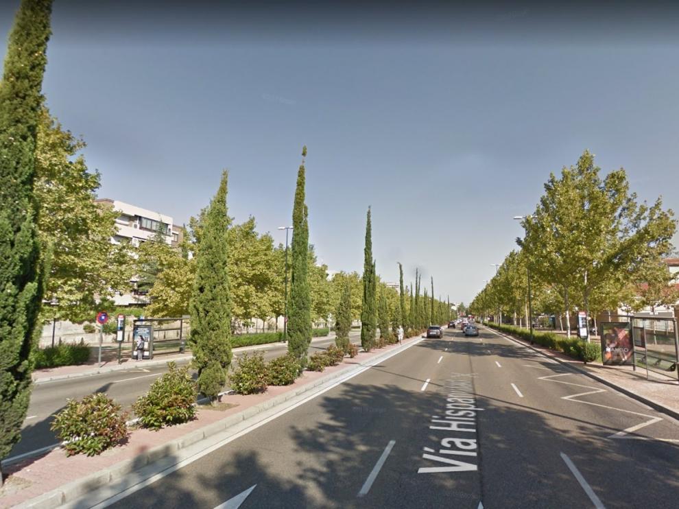 El accidente ha ocurrido en Vía Hispanidad de Zaragoza.