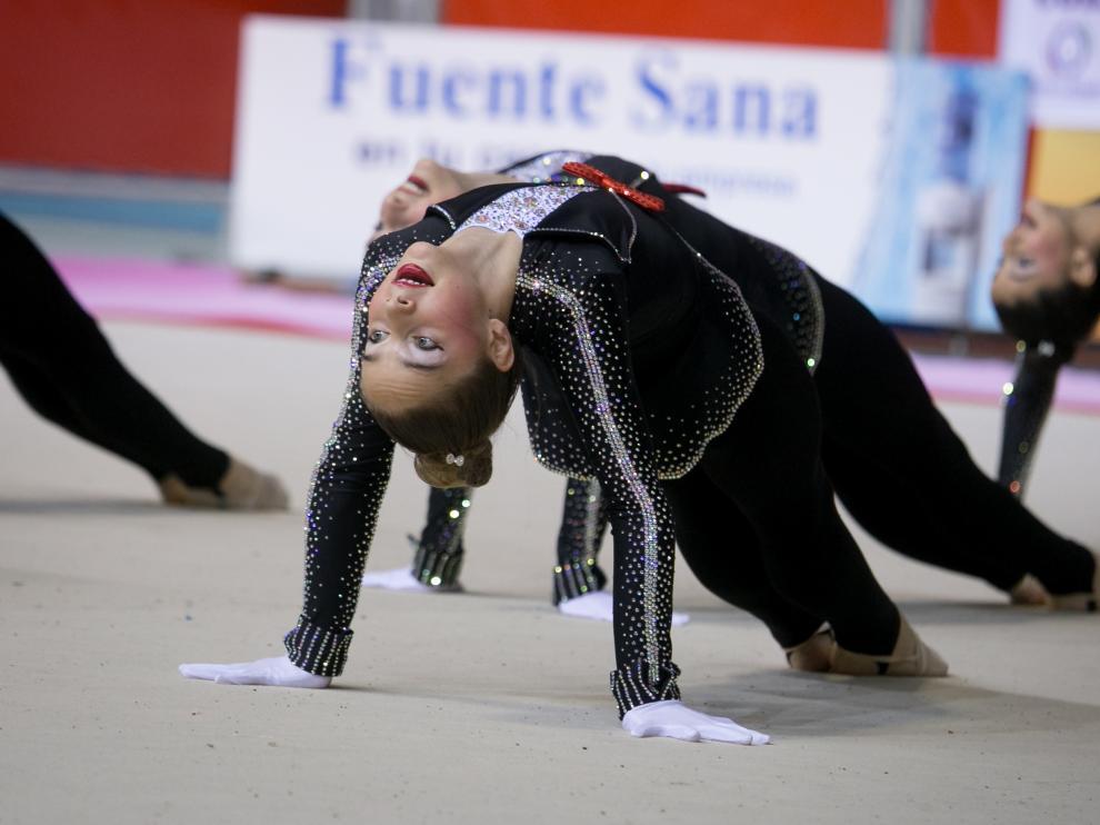 Fase Final del XXIII Campeonato de Aragón de Promoción de Gimnasia Rítmica en el Palacio de los Deportes de Zaragoza.