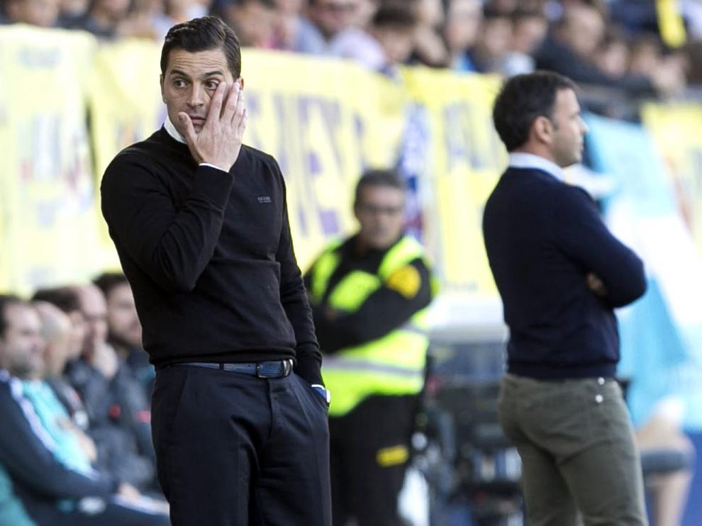 Francisco Rodríguez, en el duelo contra el Villarreal.