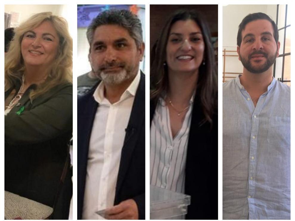 Beatriz Micaela Carrillo de los Reyes (PSOE), Juan José Cortés (PP), Sara Giménez (Cs) e Ismael Cortés (En Comú), diputados gitanos en el nuevo Congreso.