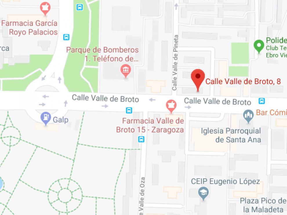 El choque ha tenido lugar en el número 8 de la calle Valle de Broto, en el Actur.