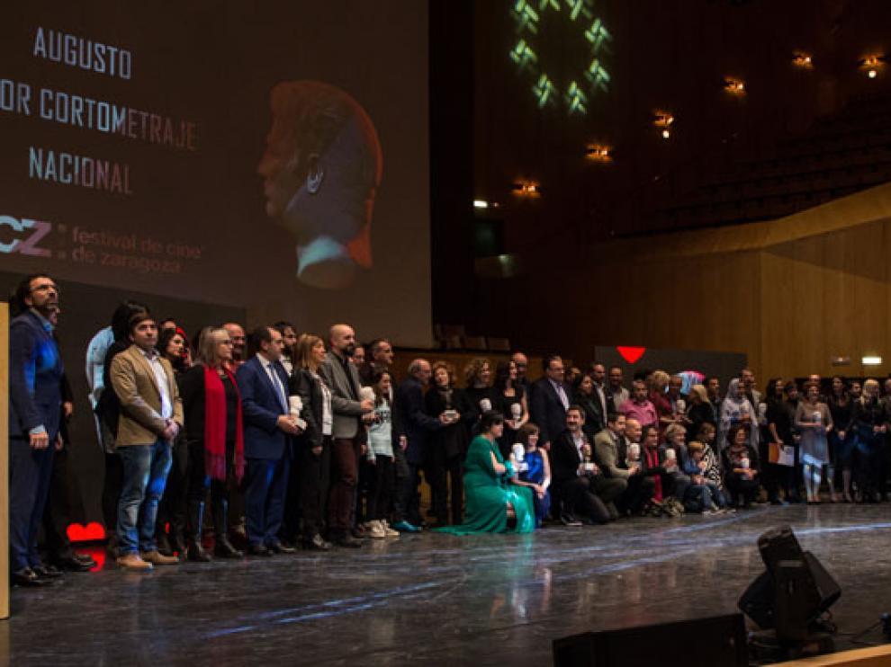 Foto de familia de la 23º edición del Festival de Cine de Zaragoza.