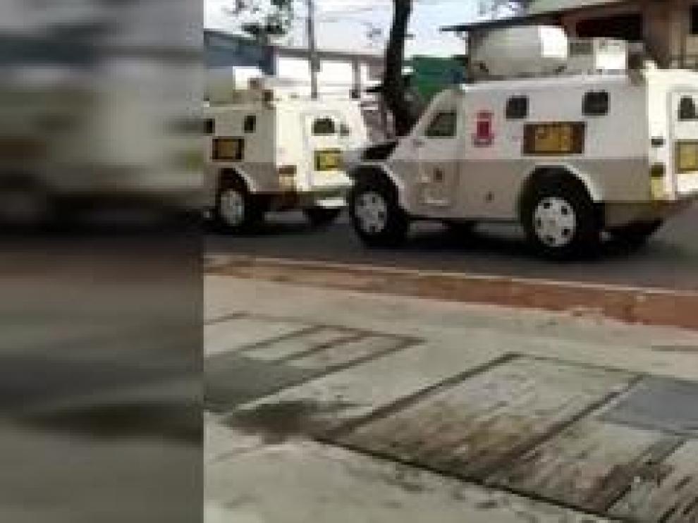 La tensión ya se vive en las calles de Caracas, tal y como puede verse en estas imágenes