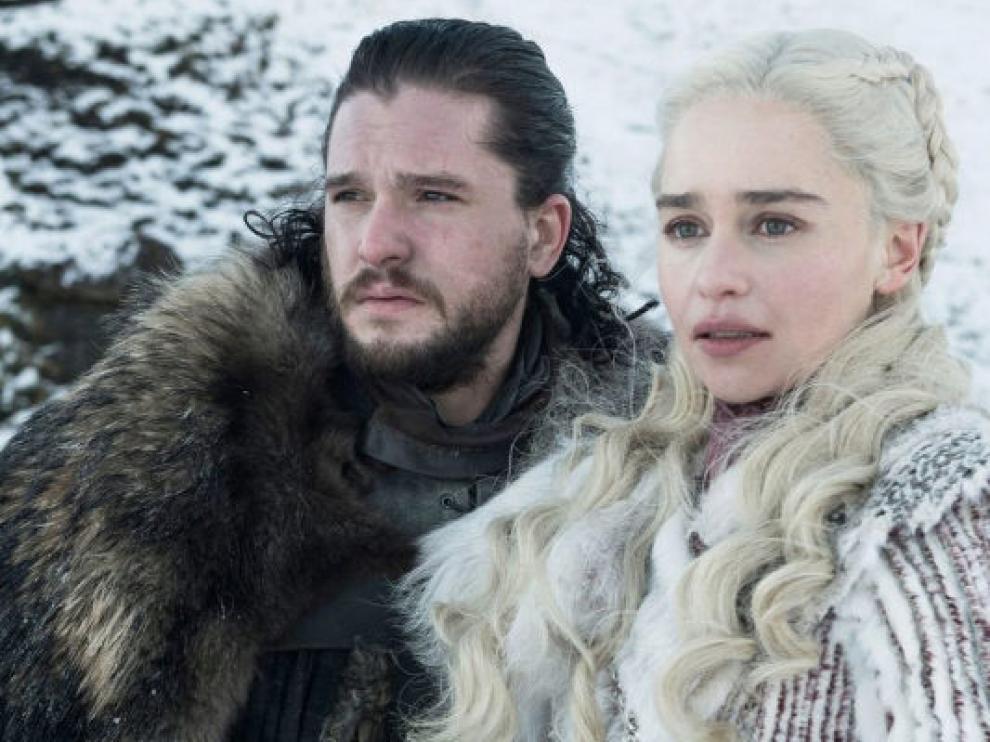 Jon Snow y Daenerys Targaryen, dos de los protagonistas de la serie