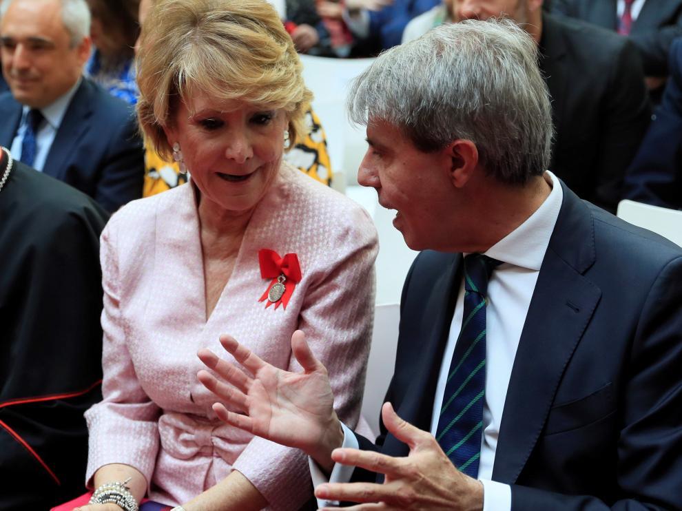 Esperanza Aguirre en los actos conmemorativos del Día de la Comunidad de Madrid.