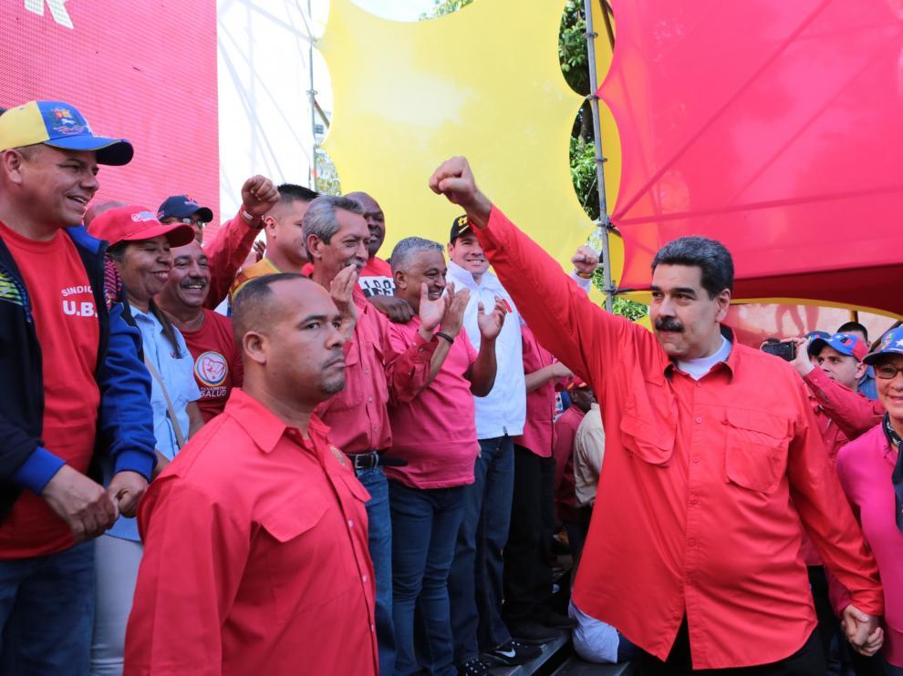 Maduro, durante su discurso.