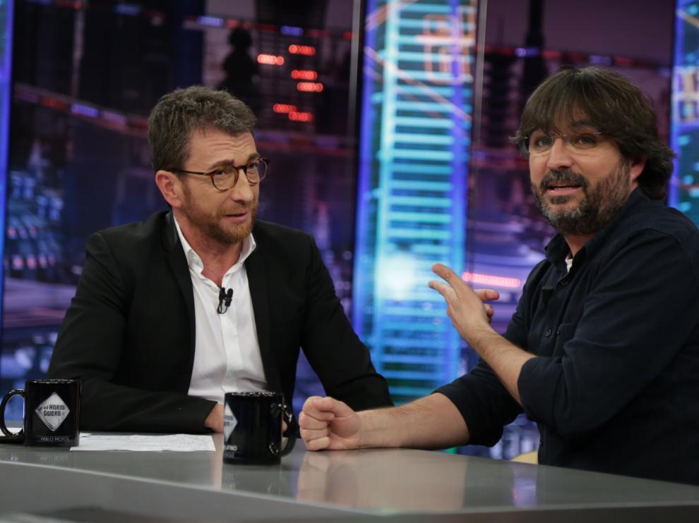 Jordi Évole con Pablo Motos en 'El Hormiguero'.