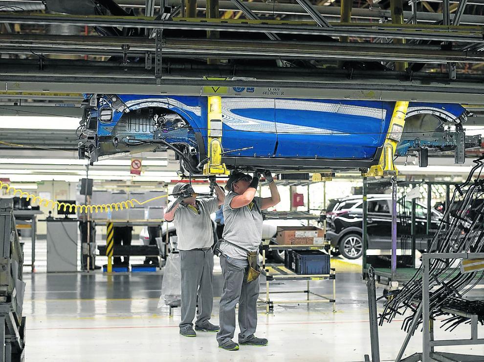 Imagen de la planta automovilístca de Opel España, del grupo PSA, en Figueruelas.