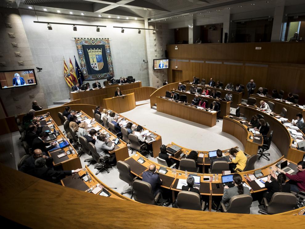 Pleno de las Cortes de Aragón.