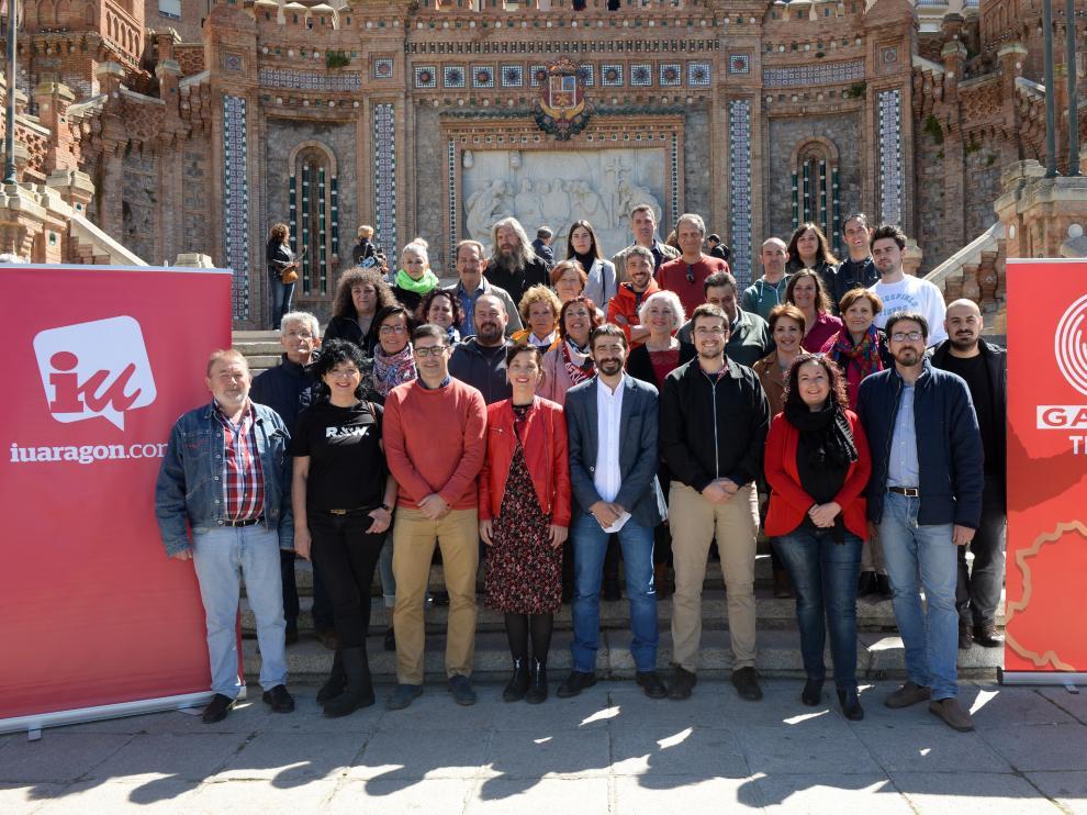 Presentación de los candidatos de Ganar-IU por la provincia de Teruel.