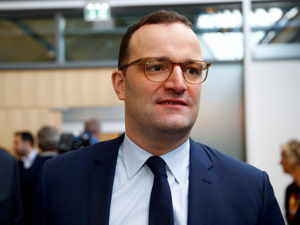 FILE PHOTO: German Health Minister Jens Spahn attends a strategy meeting of Germany's governing Christian Democratic Union (CDU) party in Potsdam, Germany, January 14, 2019. REUTERS/Axel Schmidt/File Photo [[[REUTERS VOCENTO]]] GERMANY-MEASLES/