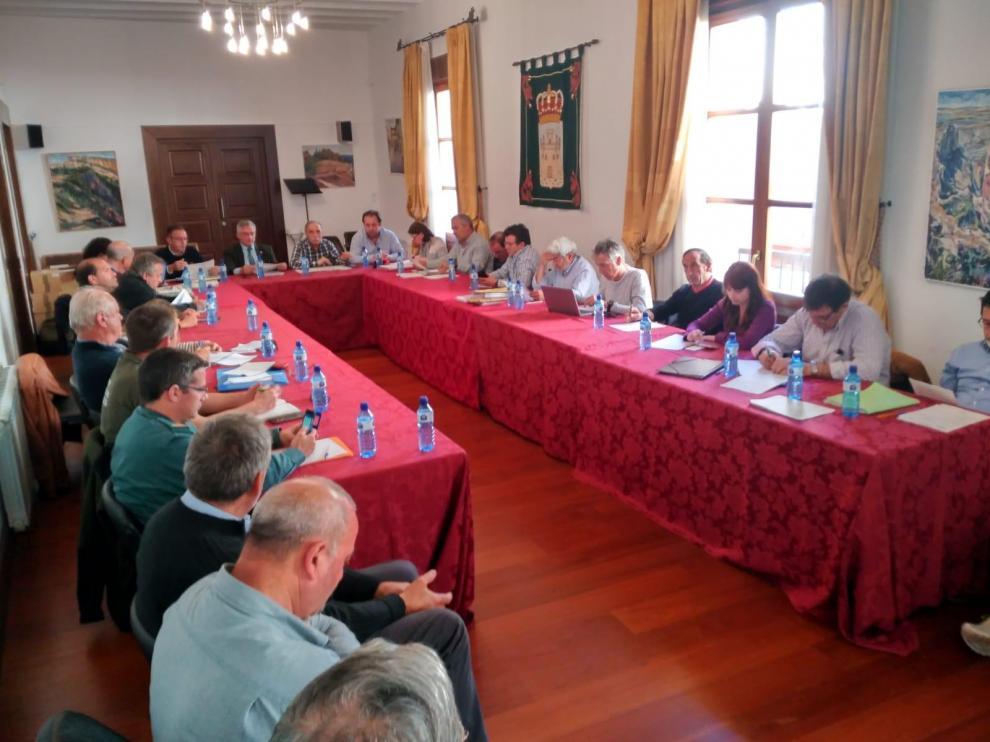 Reunión del patronato del parque natural de Guara este lunes en Alquézar.