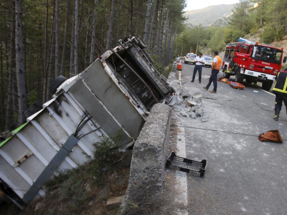 Imagen de archivo de un accidente mortal en el tramo de la N-260 que se va a acondicionar.