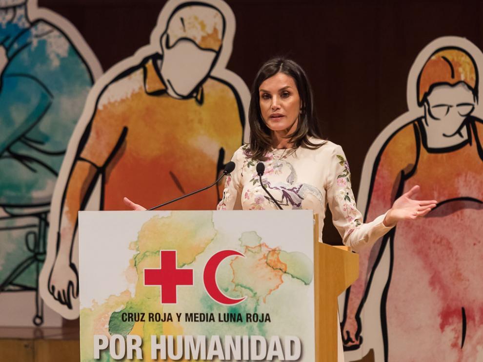 La reina Letizia preside en Zaragoza el acto central del Día Mundial de Cruz Roja