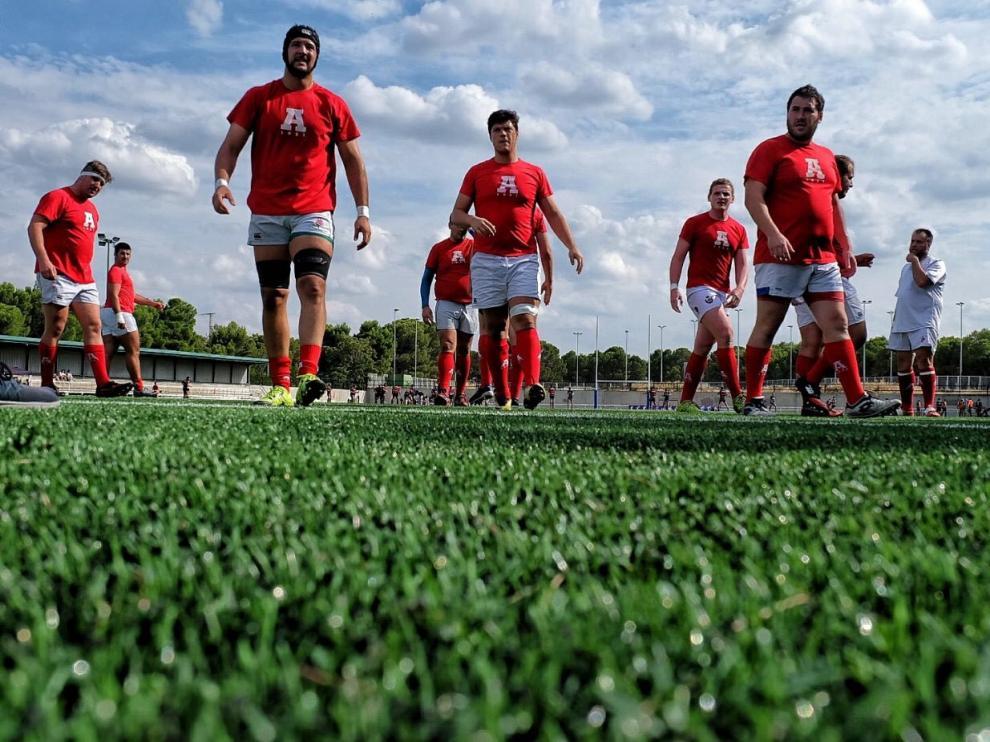 El renovado campo de césped artificial de rugby del CDM David Cañada