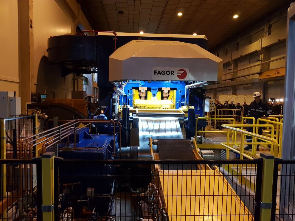 Inauguración del laminador Edelweiss del año pasado.