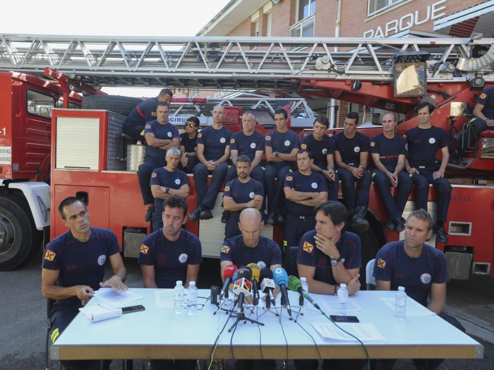 Rueda de prensa de los Bomberos de Huesca / 19-9-18 / Foto Rafael Gobantes [[[FOTOGRAFOS]]]