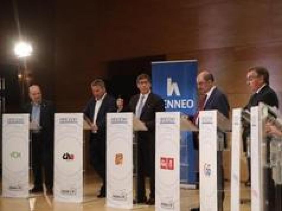 A la salida del acto, estas han sido las impresiones de los candidatos de los ocho partidos políticos que han participado en el debate de HERALDO DE ARAGÓN.
