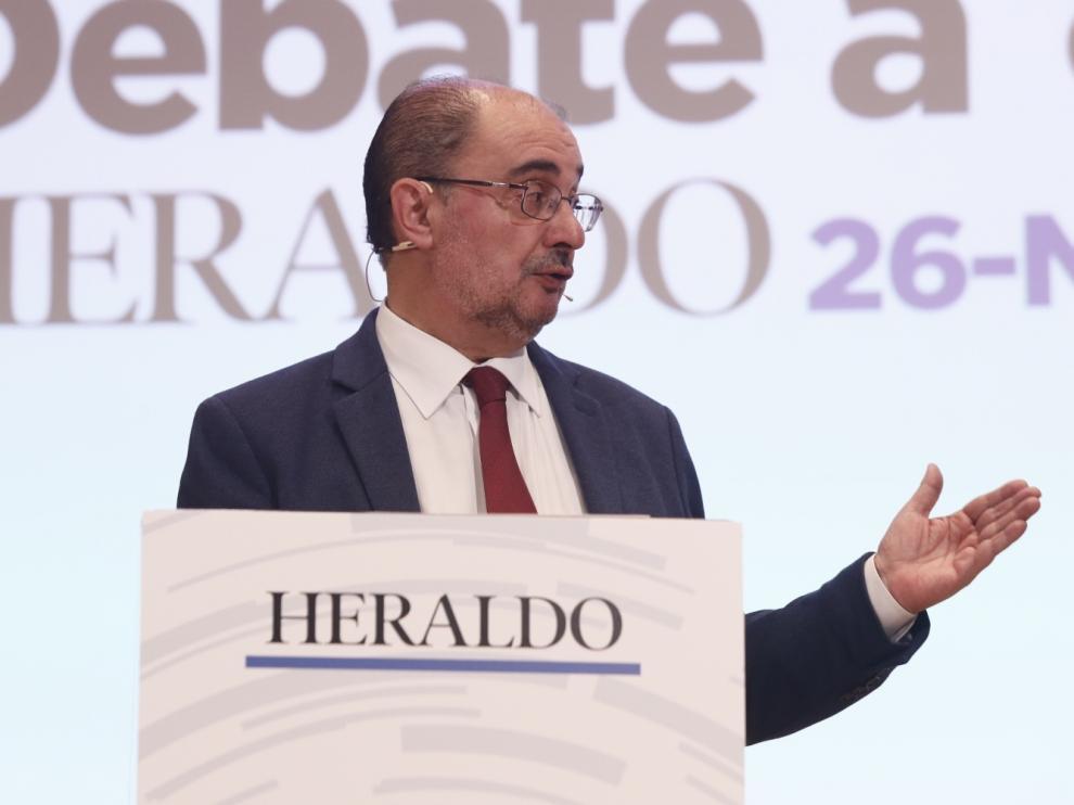 Javier Lambán, candidato del PSOE al Gobierno de Aragón.
