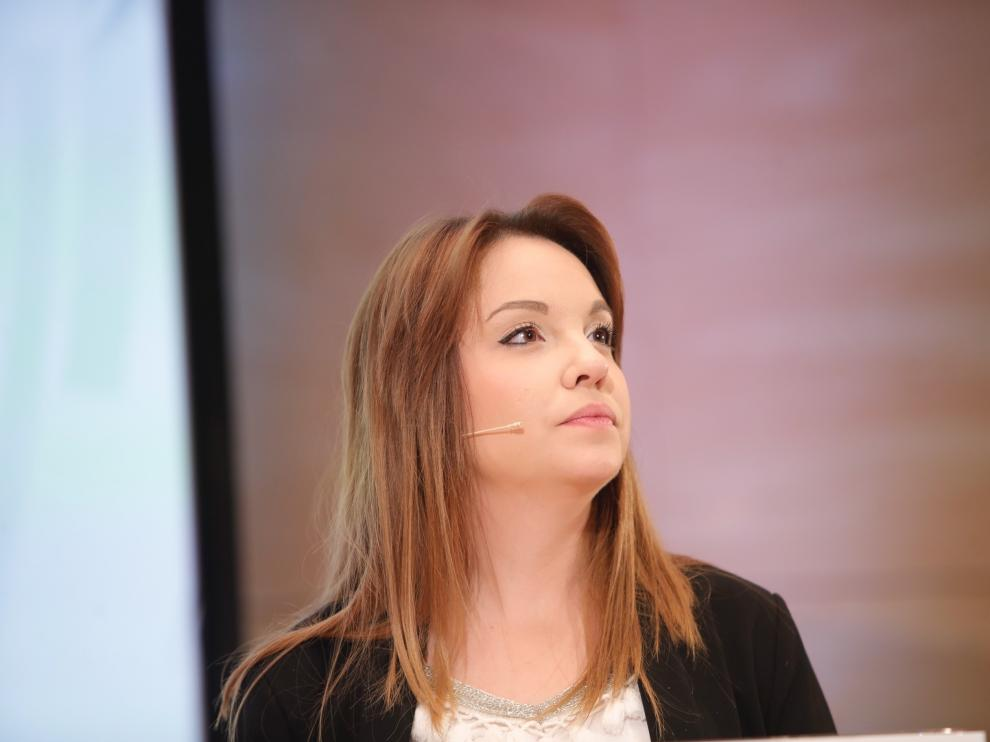 Maru Díaz, candidata del Unidas Podemos al Gobierno de Aragón.