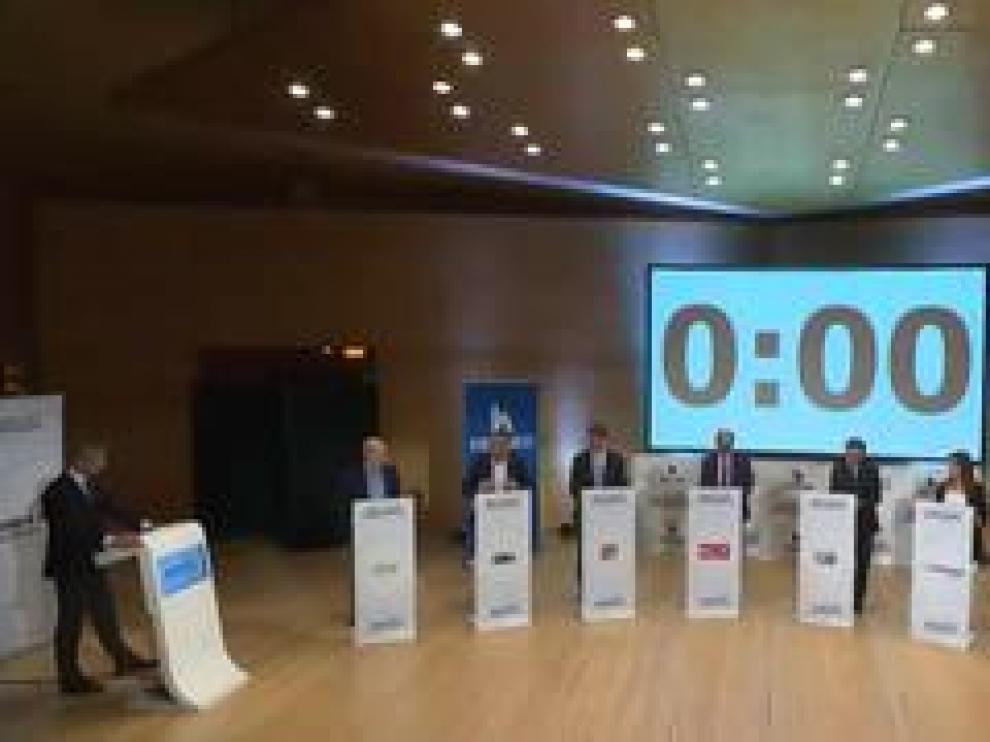 Los ocho principales candidatos a la presidencia de la DGA coincidieron en el debate organizado por HERALDO en que la despoblación es el principal problema de Aragón