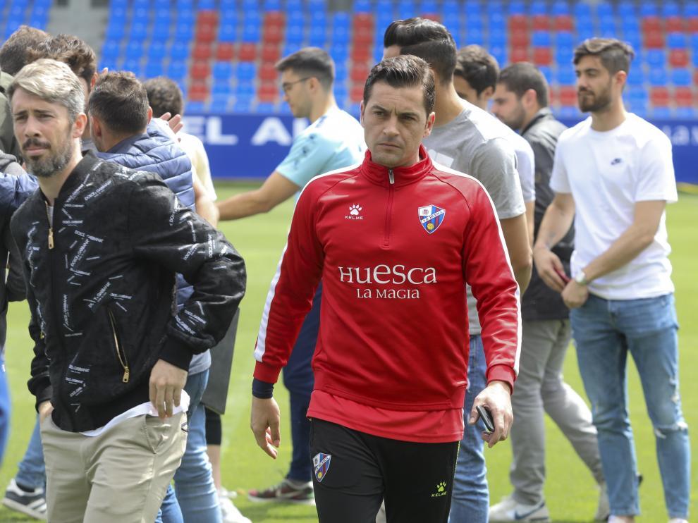 Homenaje a Gonzalo Melero por sus 100 partidos con el Huesca /10-5-19 / Foto Rafael Gobantes [[[FOTOGRAFOS]]]