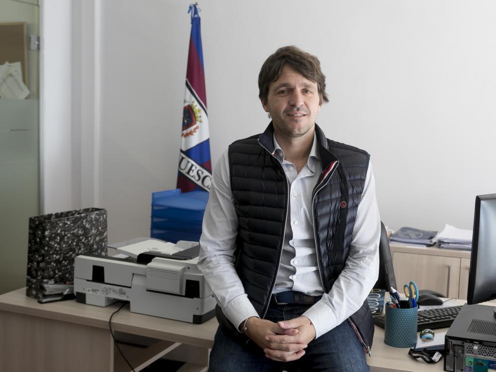 Josete Ortas, director general de la SD Huesca /9-5-19 /Foto Rafael Gobantes [[[FOTOGRAFOS]]]