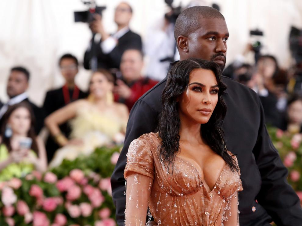 Kim Kardashian y Kanye West durante la pasada gala MET 2019.