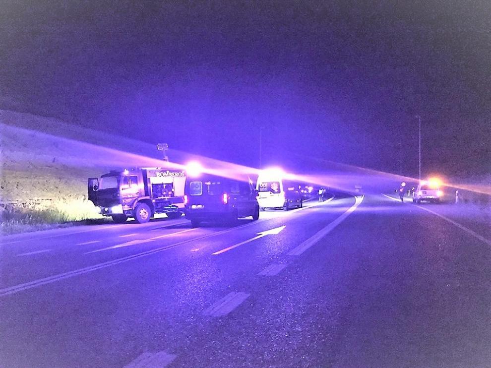 Los hechos ocurrieron en el kilómetro 208, en la N-240, a la altura de Huesca, sobre las 22.00, y la víctima moría horas más tarde en el hospital.